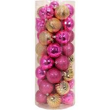 time pink gold shatterproof ornaments set of 50