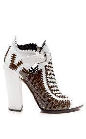 world s most expensive shoes proenza schouler basket weave sandal in white lyst