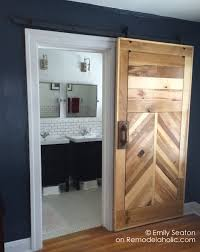 Barn Door Cabinet Hardware by Remodelaholic How To Build A Wood Chevron Barn Door