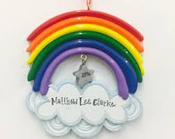 rainbow ornament etsy