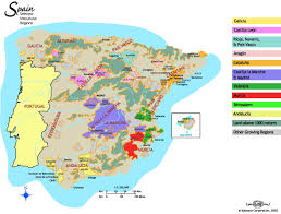 Map Of Spain Regions by Tempranillo Arthur Digby Cellars
