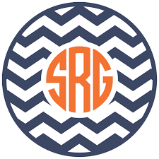 monogram car decal district17 chevron circle monogram car decal personalized items