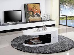 ya380 modern white oval coffee table