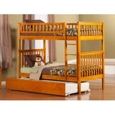 Twin Over Twin Bunk Beds With Trundle by Twin Over Queen Bunk Bed Wayfair