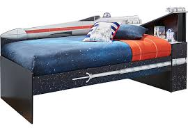 rooms to go twin beds star wars x wing black 3 pc right twin bookcase bed beds black