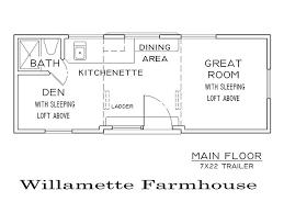 Willamette Farmhouse Tiny Smart House Floor Plan Tiny House