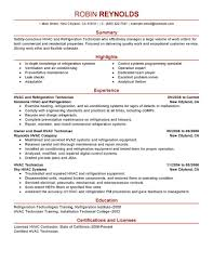 brilliant ideas of sample resume for hvac technician for download
