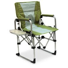 Folding Directors Chair With Side Table Mac Sports Portable Director U0027s Chair Green 234570 Chairs At