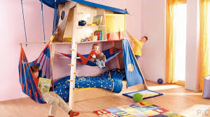 natural theme kids bedroom with unique climbing toddler bed solid