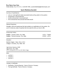 It Specialist Resume Sample by Sports Marketing Specialist Resume Template