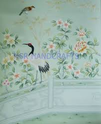hand painted wallpaper chinoiserie wallpaper chinese wallpaper