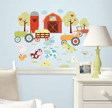 amazon com roommates rmk1604scs happi barnyard peel and stick amazon com roommates rmk1604scs happi barnyard peel and stick wall decals home improvement