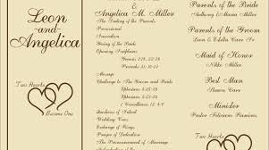 Wedding Programs Wording Examples Modern Wedding Ceremony Programs Image Wedding 25468 Johnprice Co