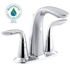 Chrome Bathroom Faucets by Kohler Alteo 4 In Centerset 2 Handle Bathroom Faucet In Polished
