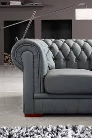 Grey Tufted Sectional Sofa by Divani Casa Paris 1 Transitional Tufted Leather Sectional Sofa
