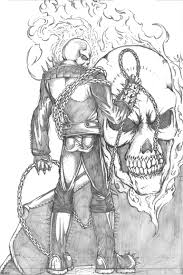 ghost rider pencil sketch drawing sketch picture