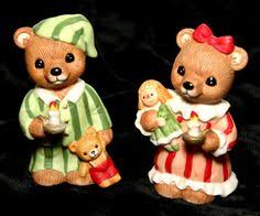 home interior bears homco bears 5251 country bears set of 2 collectible