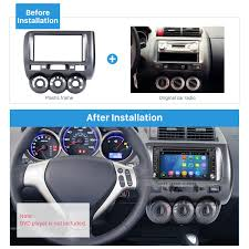 double din 2006 honda jazz manual ac lhd car radio fascia dash kit