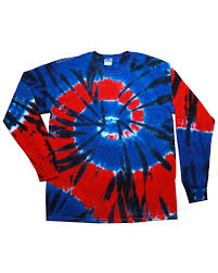 tie dye 5 4 oz 100 cotton long sleeve tie dyed t shirt at
