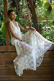 nightgowns for honeymoon bridal lace nightgown tie front waterfall gown