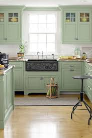 colored cabinets for kitchen 43 rooms that prove green is the prettiest color green