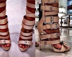 shoes strappy high heels buckled heels open toe heels