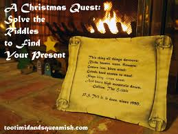 a christmas quest solve the riddles to find your present don u0027t