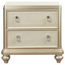 samuel lawrence diva 2 drawer nightstand w embossed faux leather