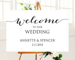 wedding welcome sign template welcome to our wedding sign template instantly edit and