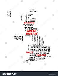 Nottingham England Map by Great Britain City Map Tag Cloud Stock Vector 243320170 Shutterstock