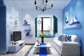 mediterranean design mediterranean style rendering blue living room interior design