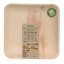 bamboo disposable plates disposable plates made of palm leaf heavy duty eco better