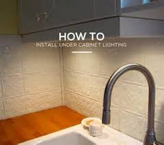 How To Install Light Under Kitchen Cabinets Best Counter Lighting - Light under kitchen cabinet