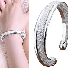 bracelet ladies images Fashion jewelry women 39 s silver plated cuff bracelet ladies bangle jpg