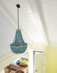 turquoise beaded chandelier turquoise beaded chandelier cottage entrance foyer benjamin