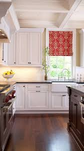 White Roman Shade Add A Pop Of Color To A White Kitchen With A Roman Shade U2014 Sew