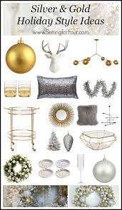 silver and gold holiday style setting for four