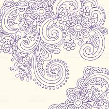 henna tattoo flowers and swirls vector stock vector art 91854073