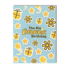 big brownie brownie cards 6pk brownie gifts and fun badges