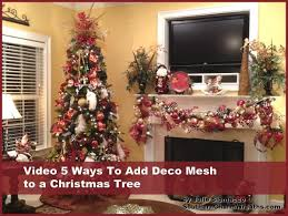 how to decorate a christmas tree with ribbon video learntoride co
