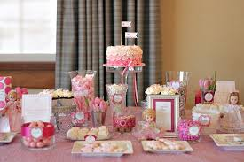 Bridal Shower Dessert Table Tracy U0027s Baby Shower Sweets Table The Couture Cakery