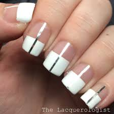 white color block negative space metallic stripes oh my