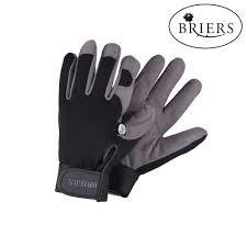 briers professional black and grey synthetic leather garden