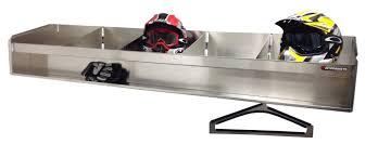 Trailer Garage Helmet Bay Storage Rack Pit Products