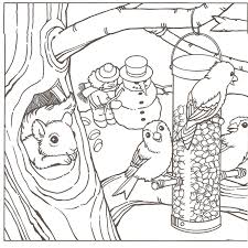 Printable Winter Scene Coloring Pages 342664 Winter Coloring Pages Free