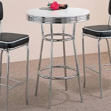2300 cleveland 50 u0027s soda fountain chrome bar table buy sell