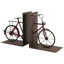 imax worldwide home decorative figurines renee bicycle bookends