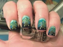 sea turtle nails polish me please