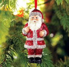 santa clause ornament for tree decorating ideas home