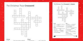 christmas truce 1914 crossword
